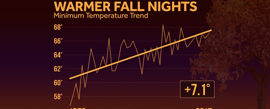 Fall Nights Are Warming: Find Out How Much in Your Region