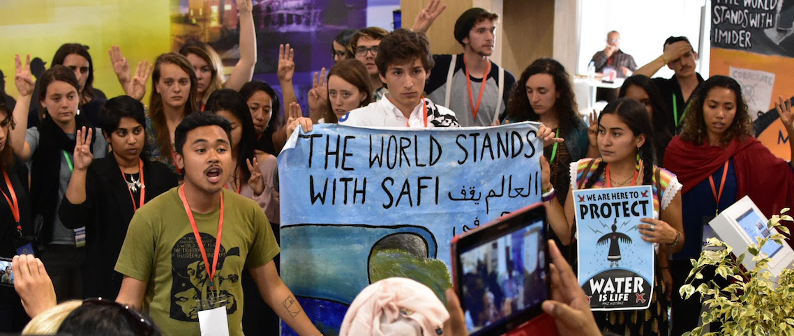 COP22 Protest and Die In for Environmental Justice for Safi and Imider, Morocco