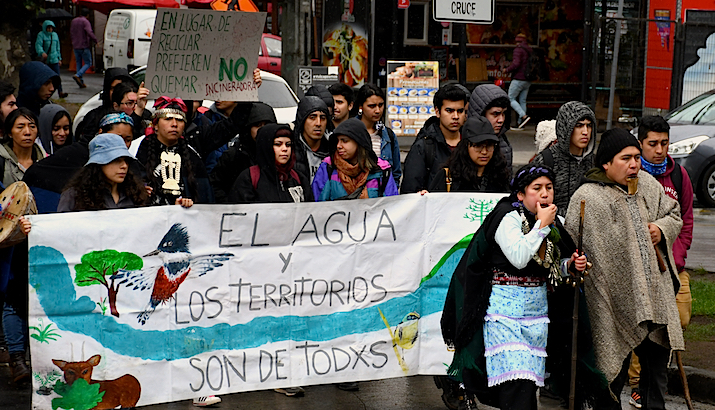 """Photo Essay: 25 Nov 19- Mapuche march  in Temuco to stop """"green"""" waste incinerator"""