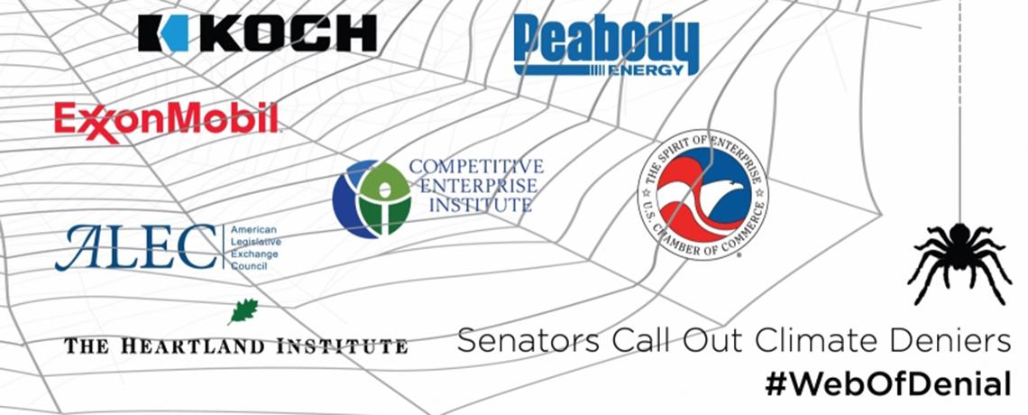 Senators Launch Resolution, Speech Blitz Calling Out #WebOfDenial Blocking Climate Action
