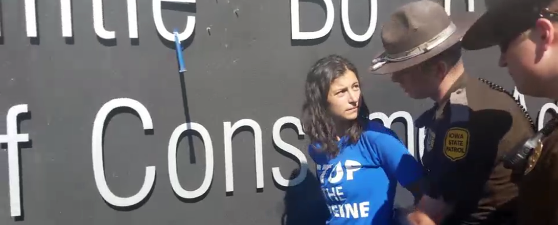 WATCH: Two Arrested For Actions Against Dakota Access Pipeline