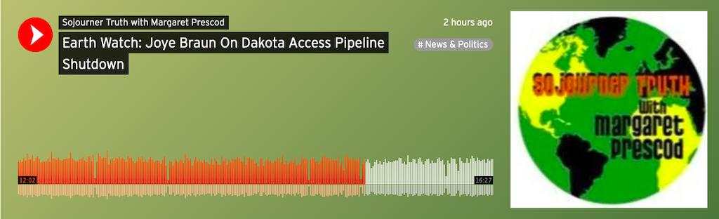 Earth Watch: Joye Braun On Dakota Access Pipeline Shutdown