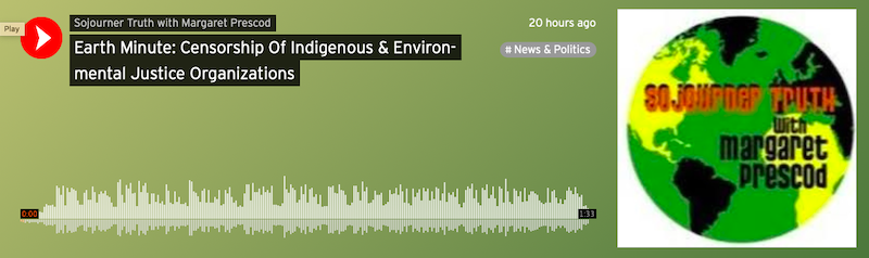 Earth Minute: Censorship Of Indigenous & Environmental Justice Organizations