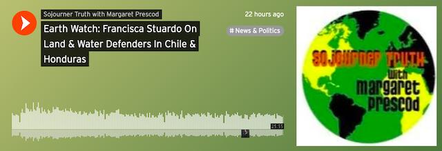Earth Watch: Francisca Stuardo On Land & Water Defenders In Chile & Honduras