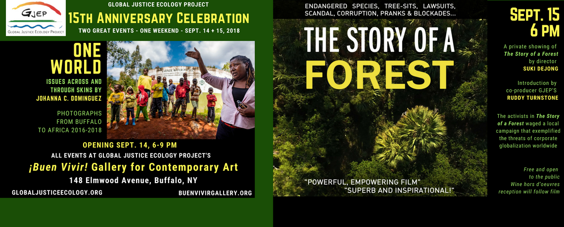 Global Justice Ecology Project Celebrating 15th Anniversary Sept. 14-15