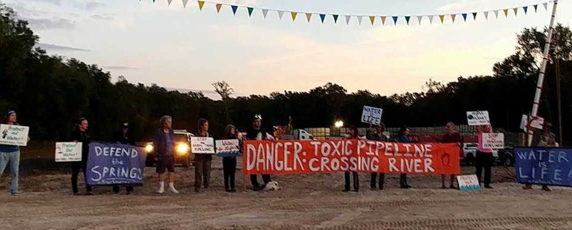 WATCH: Protesters Block Sabal Trail Gas Pipeline Workers