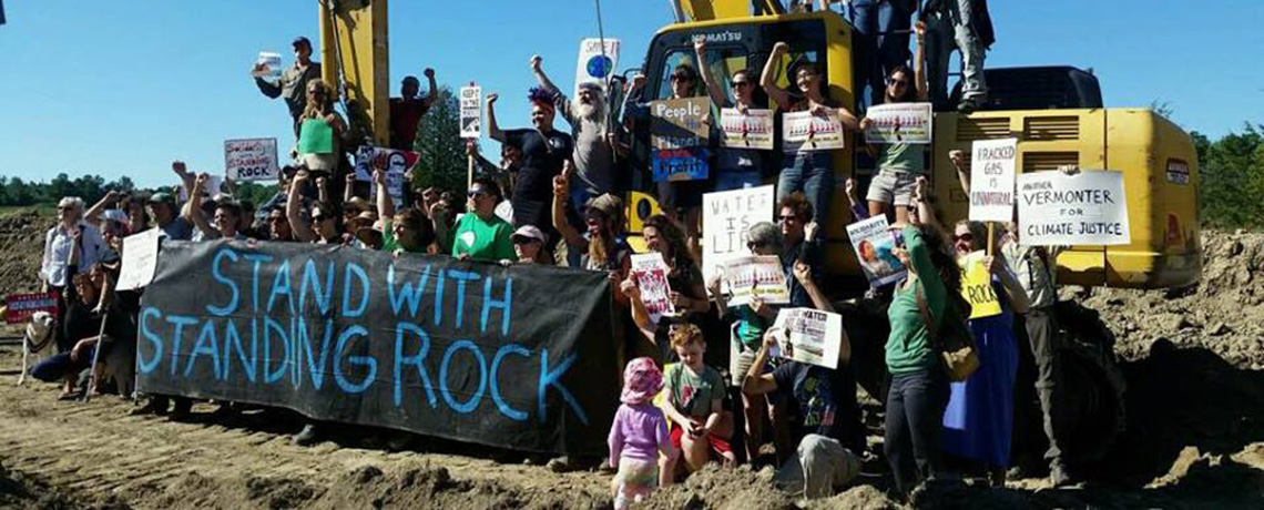 Vermonters Blockade Pipeline Construction at Geprags Community Park