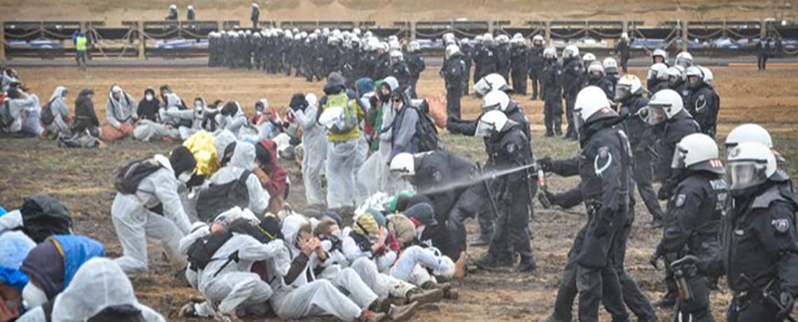 #EndeGelände Blocked Hambacher Coal Mine